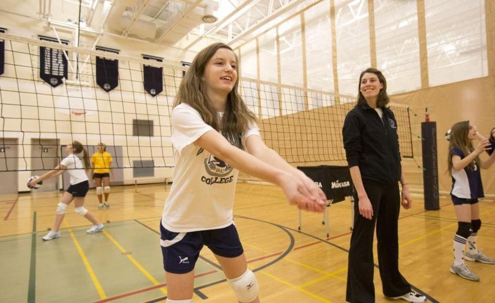 тренировка по волейболу Pickering College