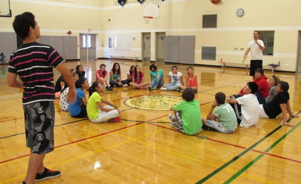 тренировка по баскетболу Pickering College