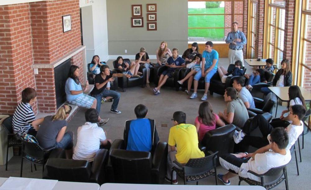 зона для отдыха студентов Pickering College