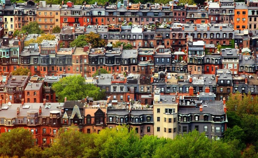 район Back Bay Boston