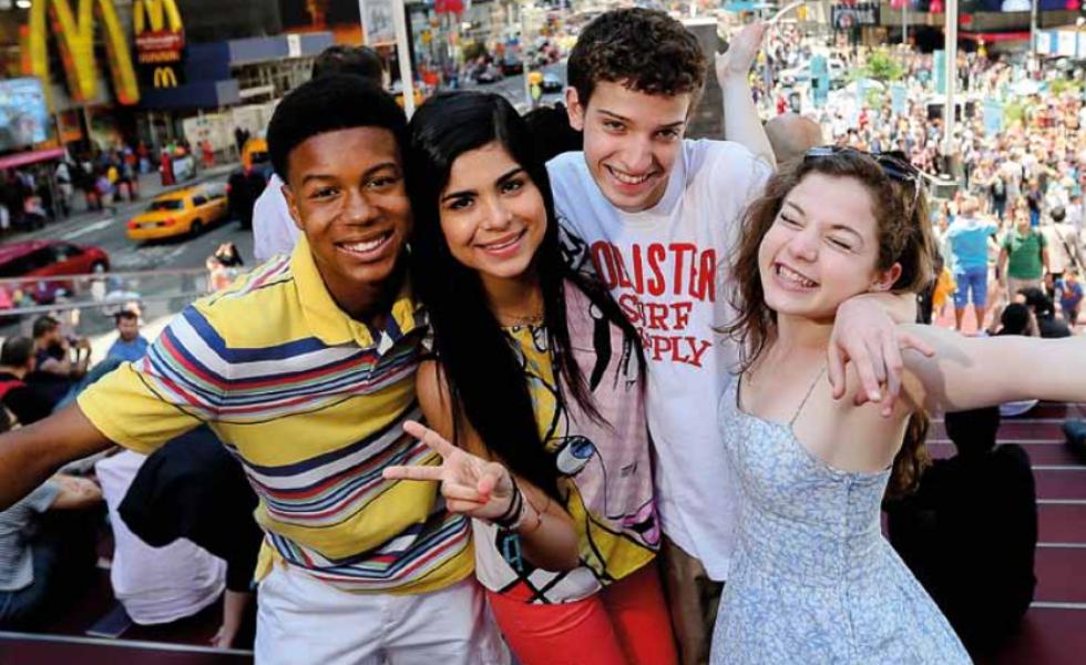 международные студенты в лагере Rennert в Marymount Manhattan College