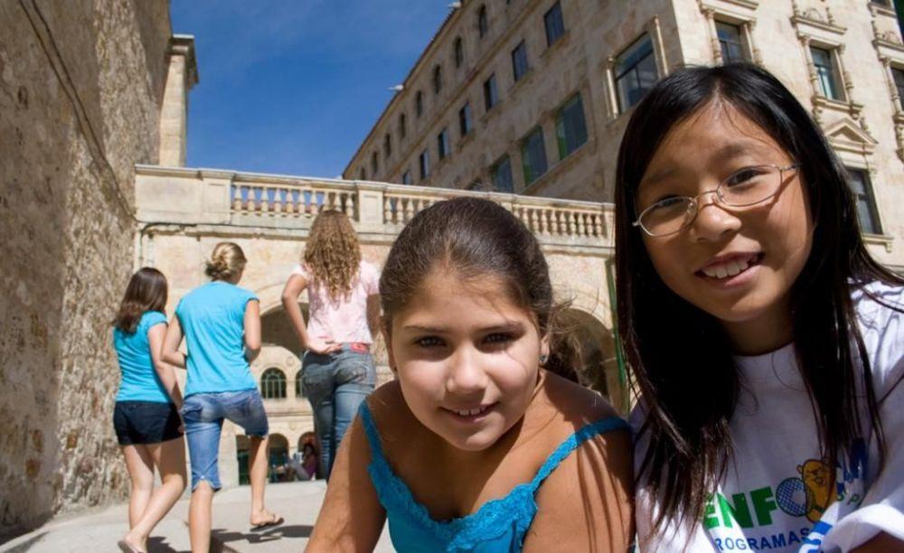 дети на экскурсии в лагере Salamanca, Enfocamp