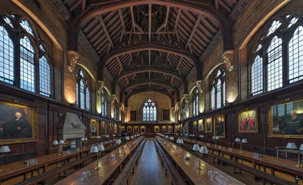 Столовая Balliol College. Аспект - Обучение за рубежом.