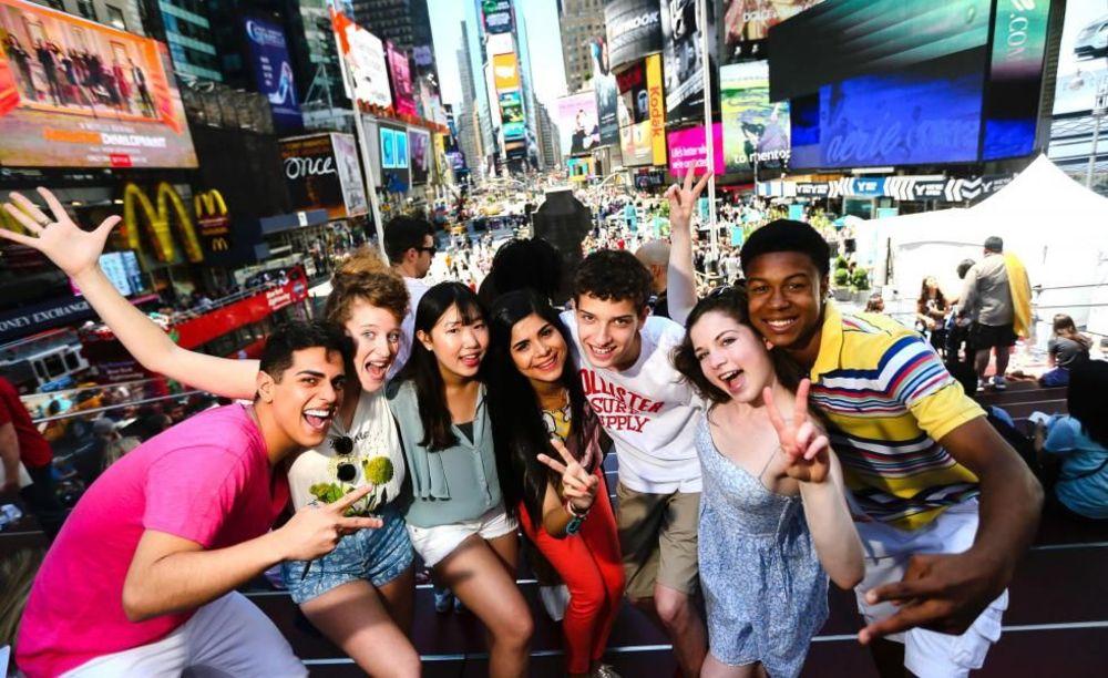 участники лагеря Rennert Iona College в Нью-Йорке
