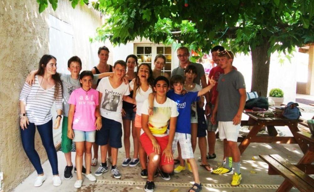 участники летнего лагеря International Bilingual School of Provence