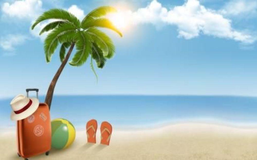 Солнце пляж лето с Аспектом