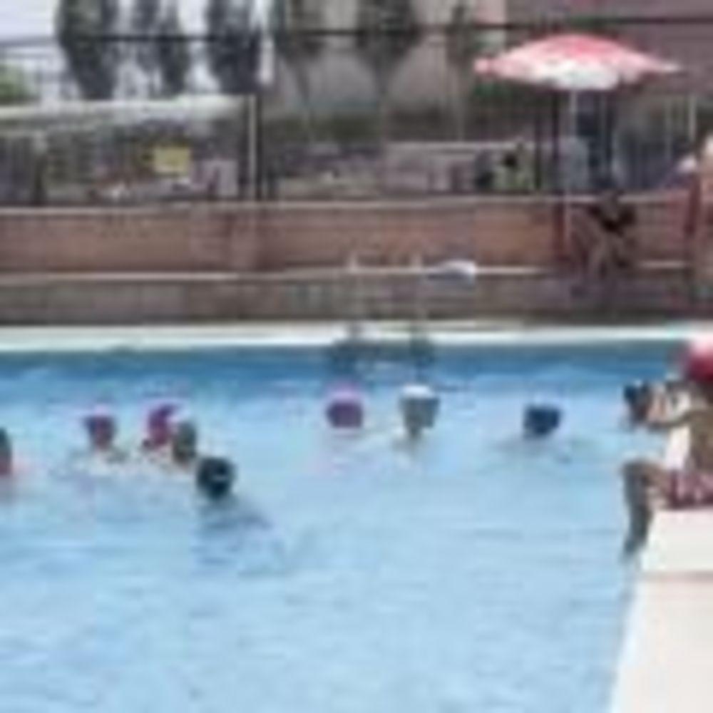 дети плавают в бассейне в лагере Caxton College