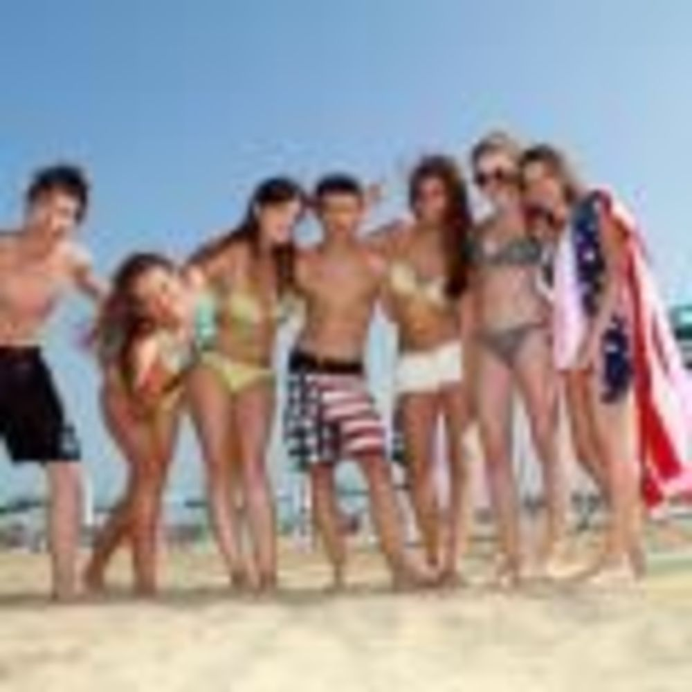 дети на пляже Linguaviva Summer Camp, Lignano