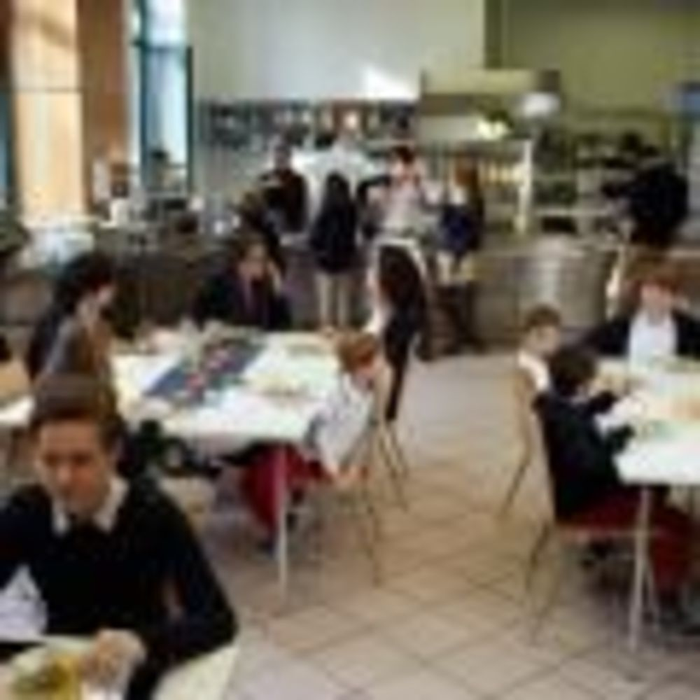 обед в столовой Amadeus International School Vienna