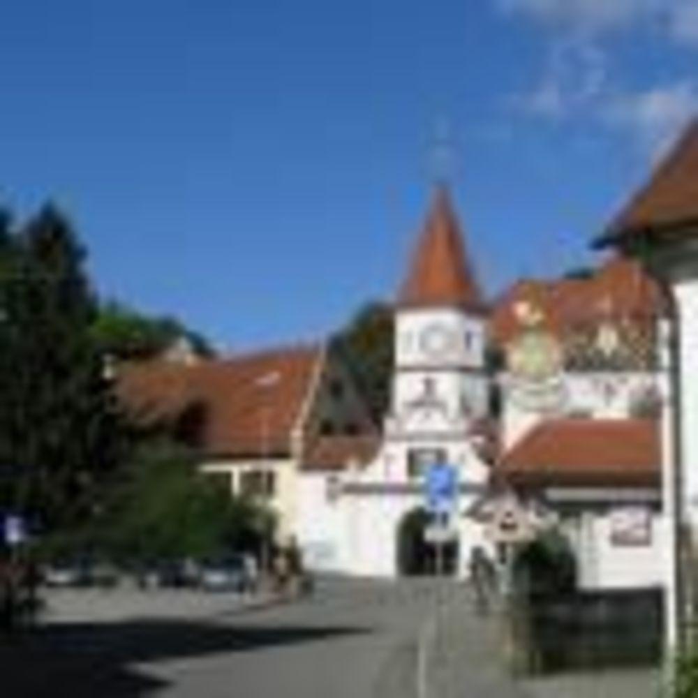 прогулка по центру города в лагере Bad Schussenried, Humboldt-Institut