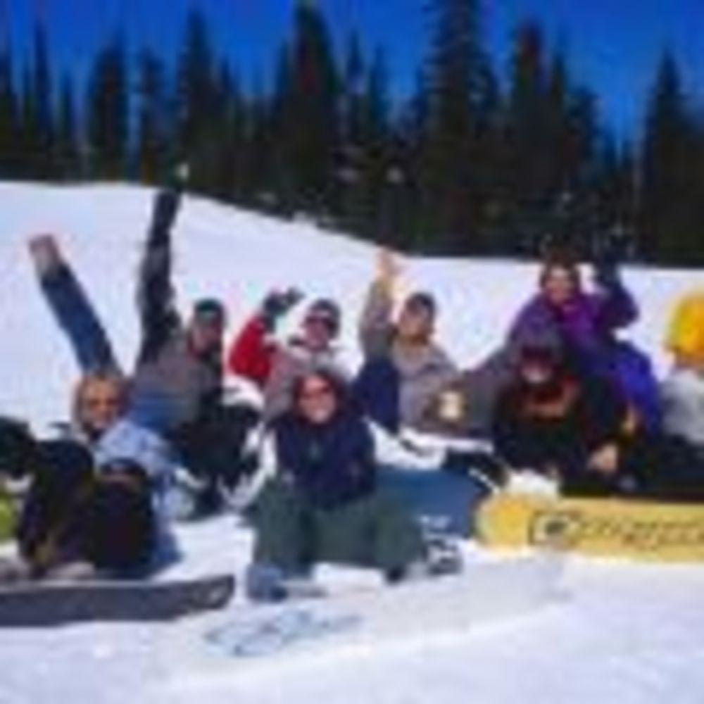 дети на сноубордах Global Village Vancouver