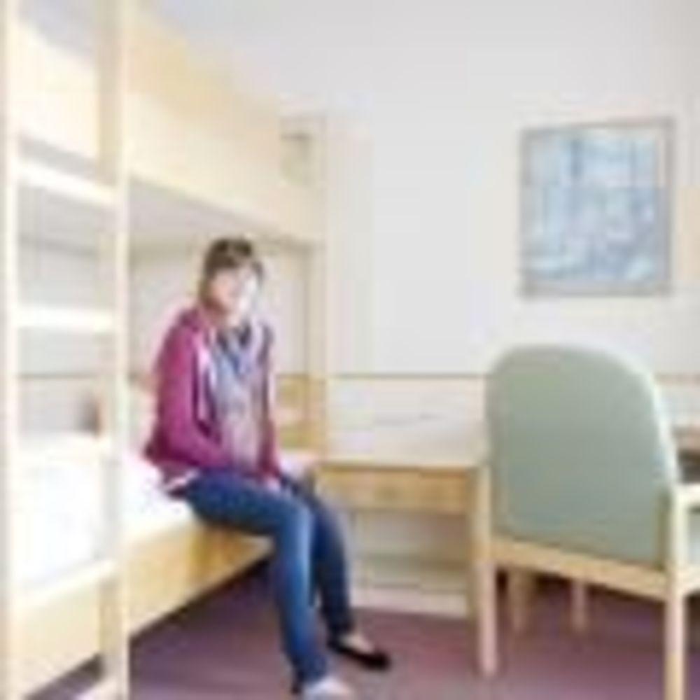 ученица в комнате резиденции лагеря Bad Schussenried, Humboldt-Institut