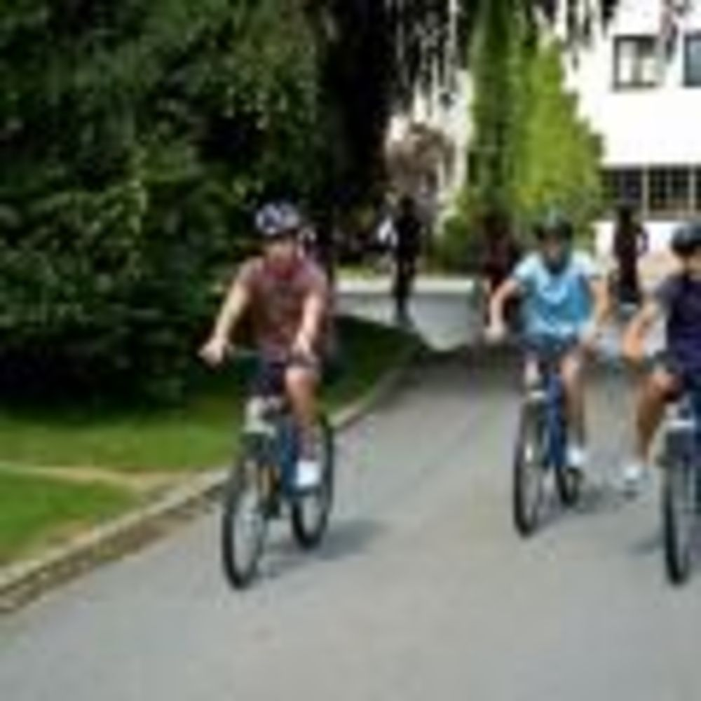 прогулка на горных велосипедах в лагере Lindenberg, Humboldt – Institut