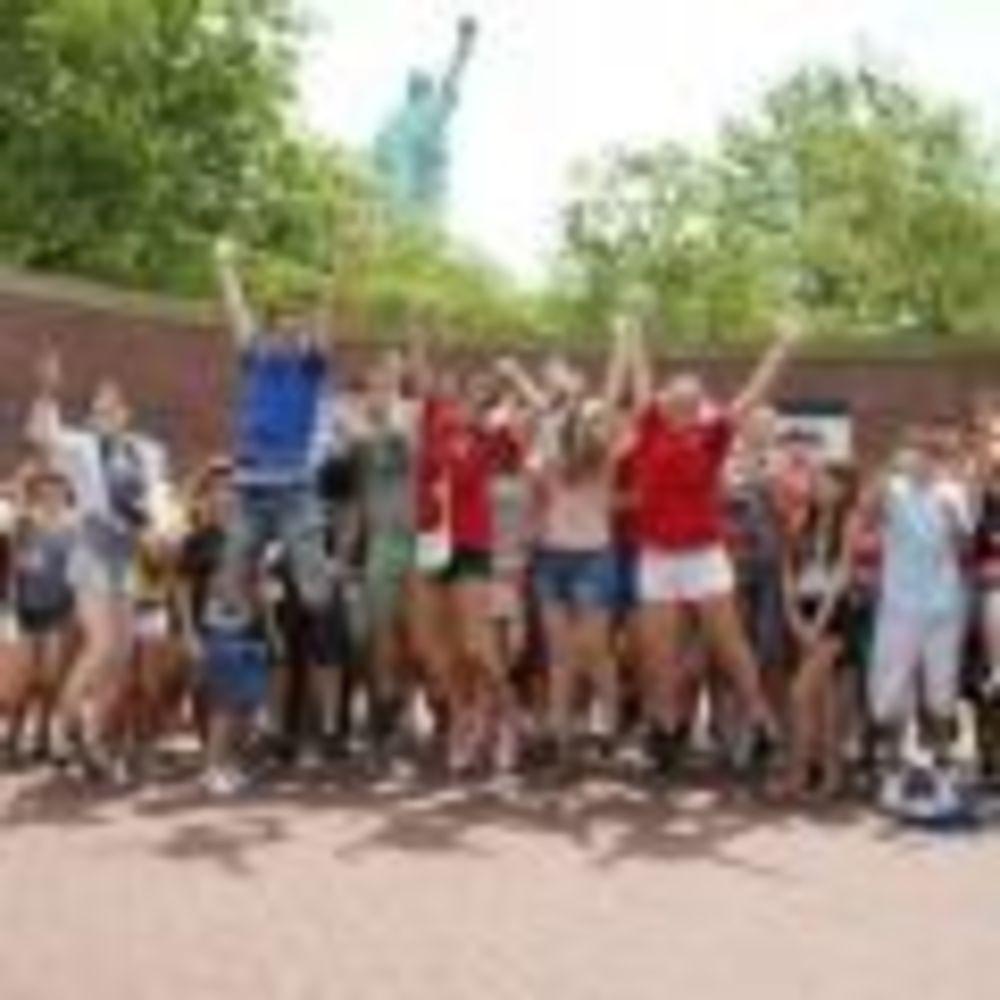 участники лагеря LAL в Fordham University на экскурсии