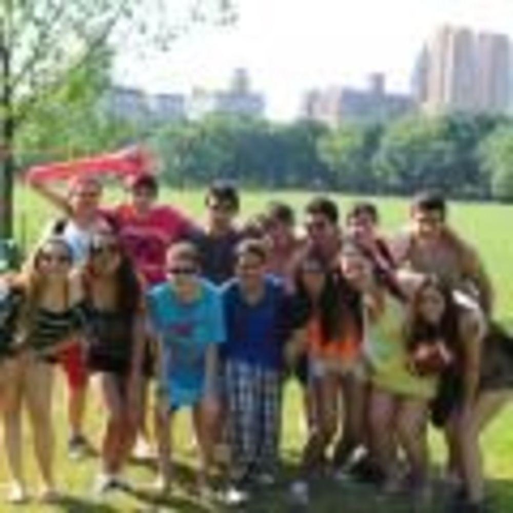 участники лагеря LAL в Центральном парке