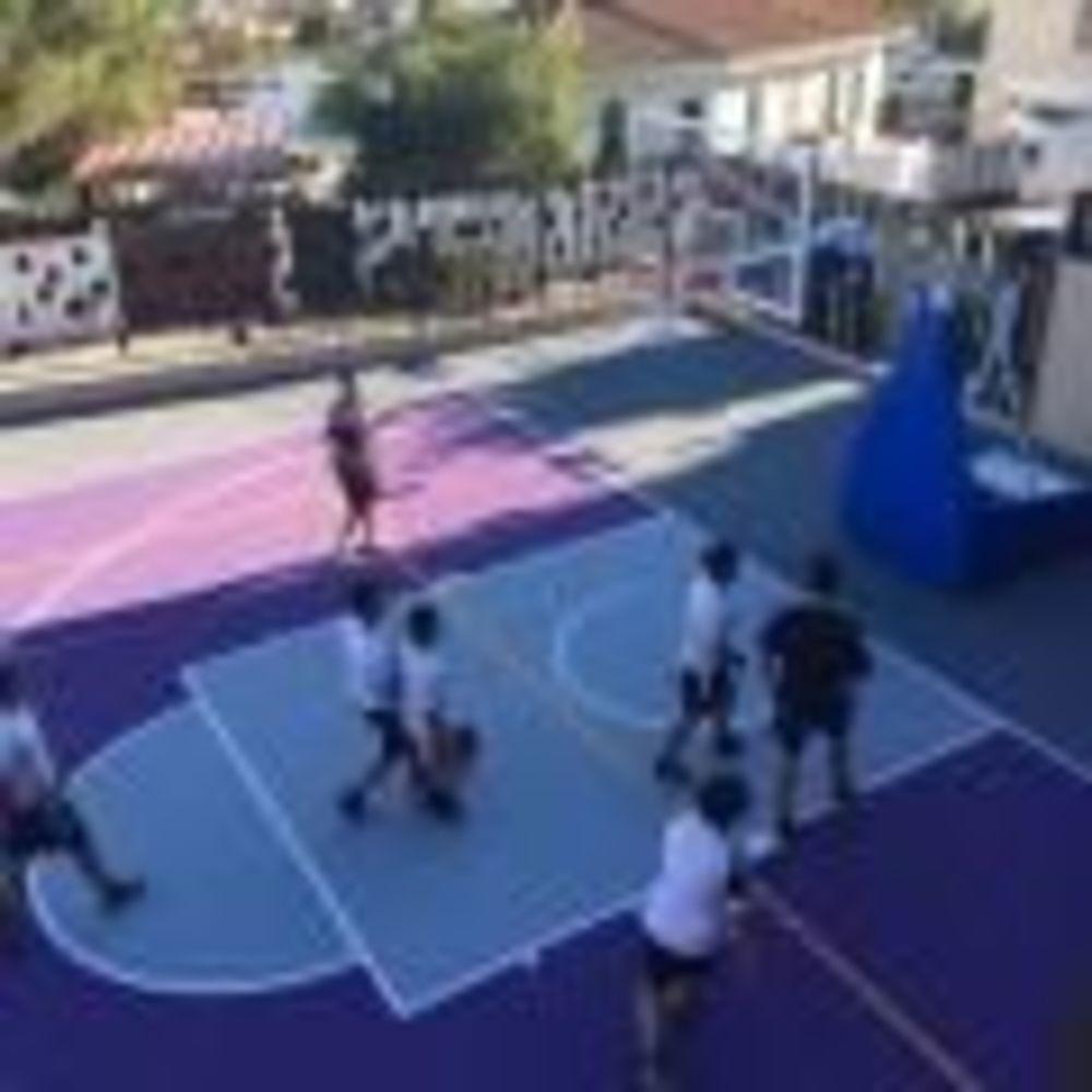 тренировка по баскетболу в лагере Colegio Unamuno (Malaga), Enfocamp