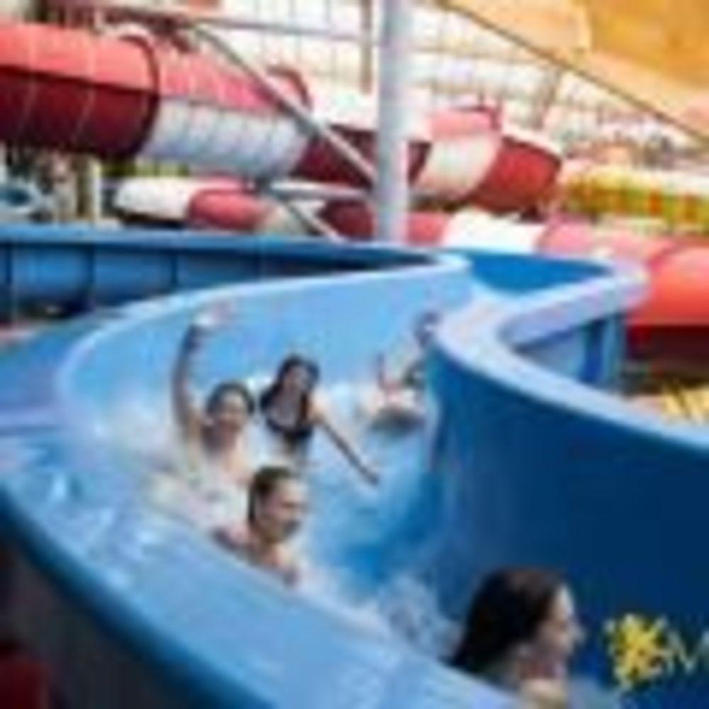 дети в аквапарке в лагере MSM Academy