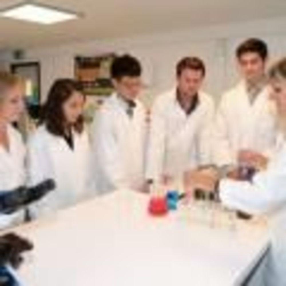занятия в лаборатории школы Lemania College